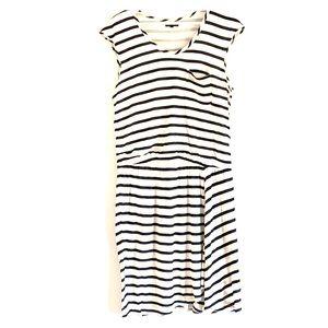 Theory lined striped sundress